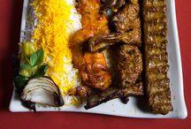 Kabobs / Bbq chicken, beef or Lamb.