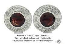 Cufflinks Royal Model - Elite & Luck Cufflinks / Elite & Luck Cufflinks Royal Model. Luxury Gemstone Sterling Silver Cufflinks that enhance your Elite, Luck, Love, Wealth, etc.