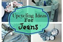 Recycled Jeans / Inspirational photos of how to reuse, repair or recraft using jeans and denim fabrics. Most will be sewing related.