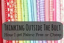 Sewing / Make your own clothes, bags, accessories, pillowcases, linens, and the like.