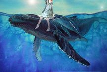 Art - Whales in Prints / The most inspiring, spiritual & magical animals in this world. Tattoo ideas...;-) and more....