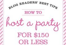 Entertaining / Party ideas for turning frugal into fabulous.