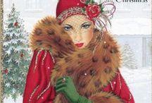 Vánoční a novoroční pohlednice