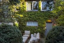 Gardens and balconies / Relaxing corners with potted plants and furniture