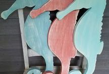 Our Handmade Beach Decor / Handmade decor perfect for the beach lovers or beach cottages out there!