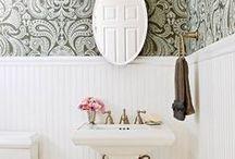 bathrooms / Clean, bright, neutral, modern but classic bathrooms.