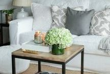 living rooms / Light, bright, open and airy, neutral, minimal but cozy living rooms to inspire.