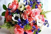 Multi-Colored Wedding Bouquets / Flowers create a colorful landscape that will set the mood for your special day and make every moment a perfect photo opportunity.  The Flower Cart has been providing couples with exceptional wedding arrangements for over 50 years.