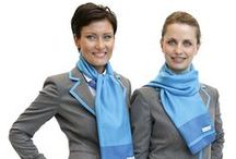 Reinventing Uniforms / Some snapshots of new Air Dolomiti flight attendants' uniforms, designed by Laura Strambi