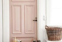 girl's bedrooms / Girl's bedrooms, feminine decor, pink, blush pink, gray, white neutral spaces.
