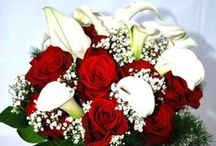 Red Wedding Bouquets / Enjoy viewing beautiful bouquets with more emphasis on the color red.