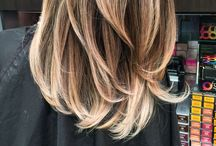Hair / Hair styles for mid length hair, blonde,ombré, easy messy buns and up do's