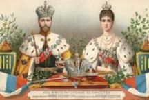 Russia of Nicholas II and Alexandra / Nicholas II and Alexandra were the last tsar and tsarina of Russia under Romanov rule. His poor handling of Bloody Sunday and Russia's role in World War I led to his abdication and execution. / by Susan Heep