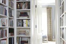 Kirjasto BIblioteket / Ideoita oman kodin sisustukseen. Ideerna till eget hem. Bokhyllor, dörrar