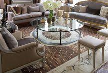 Olohuone sal / Huonekalut, tavarat, sal, möbler, pallar, tavelvägg, gustavianska stil