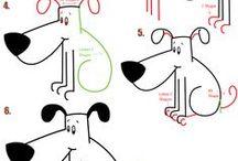 draw dog, cat..... / Hogyan rajzoljunk ház köról élő állatokat?