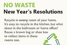 No Waste New Year's Resolutions / New Year's Resolutions to help you eliminate waste from your life in 2014