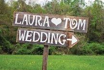 Schilder & Buchstaben zur Hochzeit / Hochzeitsschilder/ Beschriftungen