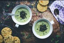 Soups and more soups. / Wholesome and clean vegetarian soups