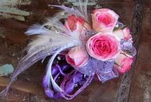 Wrist Corsages /  If you're looking for a corsage to go with a black, red, turquoise or any other color dress, you may find it in this collection of gorgeous wrist corsages for Prom. Get inspired by the unique designs and color combinations!