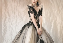 Tulle Inspiration / I have a thing for black tulle, apparently, but this has inspiration for other projects as well.