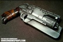 Weapons // Modern + Sci-fi + Steampunk / Concept art and illustrations of weapons from genres like sci-fi, steampunk. / by Abayomi Louard-Moore