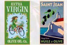 Vintage Olive Labels