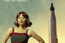 Chinese Space Program / Chinese space program, vintage rocketry, retro tech, spirit of futurism and human space exploration.