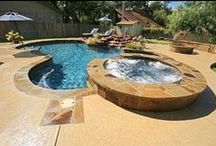 Spas and Hot Tubs / These are some spas and hot tubs we have created at Texas Pools and Patios.