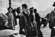 Robert Doisneau / Robert Doisneau (14 April 1912 – 1 April 1994) was a French photographer. In the 1930s he used a Leica on the streets of Paris. He and Henri Cartier-Bresson were pioneers of photojournalism. He is renowned for his 1950 image Le baiser de l'hôtel de ville (Kiss by the Town Hall), a photograph of a couple kissing in the busy streets of Paris. Doisneau was appointed a Chevalier (Knight) of the Legion of Honour in 1984.