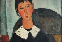 Amedeo Modigliani / Amedeo Clemente Modigliani (July 12, 1884 – January 24, 1920) was an Italian painter and sculptor who worked mainly in France. Primarily a figurative artist, he became known for paintings and sculptures in a modern style, characterized by mask-like faces and elongation of form. He died at age 35 in Paris of tubercular meningitis, exacerbated by poverty, overwork and addiction to alcohol and narcotics.