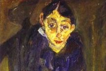 Chaim Soutine / Chaïm Soutine (January 13, 1893 – August 9, 1943) was a French painter of Belarusian Jewish origin. Inspired by classic painting in the European tradition, exemplified by the works of Rembrandt, Chardin and Courbet, Soutine developed an individual style more concerned with shape, color, and texture over representation, which served as a bridge between more traditional approaches and the developing form of Abstract Expressionism.