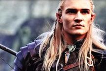 LEGOLAS GREENLEAF- Orlando Bloom - Lord of the Rings - The Hobbit / Because i love that Elf! Legolas Greenleaf is an Elf who was part of the Fellowship of the Ring in the Third Age. He is the son of the Elf-king Thranduil of Mirkwood, a Prince of the Woodland Realm (Mirkwood), a messenger, and a master bowman. With his keen eyesight, sensitive hearing, and excellent bowmanship, Legolas is a valuable resource to the other eight of the Fellowship. Legolas became great friends with the dwarf Gimli.