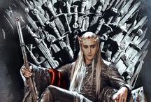 "Thranduil - Lee Pace - The Hobbit / Father of Legolas  He is The King and Beautiful!     ""You started this, you will forgive me if I finish it.""      —Thranduil to Gandalf   Thranduil, son of Oropher, was an Elven king who ruled over the Woodland Realm in the Second and Third Ages. Though inherently cautious, he eventually committed his kingdom to fighting Sauron in the War of the Ring. He was also the father of the elven prince of Mirkwood, Legolas, who was a member of the Fellowship of the Ring."