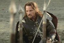 ARAGORN -  	Viggo Mortensen - Lord of the Rings / He IS THE KING! Aragorn II, son of Arathorn is a fictional character from J. R. R. Tolkien's legendarium. Aragorn was a Ranger of the North, first introduced with the name Strider at Bree, as the Hobbits continued to call him throughout The Lord of the Rings. He was eventually discovered to be the heir of Isildur and rightful claimant to the thrones of Arnor and Gondor. He was also a confidant of Gandalf and an integral part of the quest to destroy the One Ring and defeat the Dark Lord Sauron.