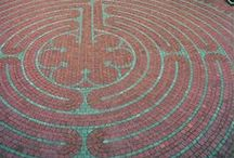 Labyrinths of the World / An homage to the journey!  Unlike a maze, labyrinths are a single path in to the center and a single path out.  Physically walking a labyrinth is a meditation that facilitates the inner journey.  The labyrinth is the ultimate symbol for mystical backpackers!