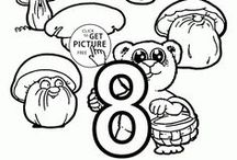 Alphabet&Numbers coloring pages / Alphabet coloring pages, letters coloring pages, numbers coloring pages