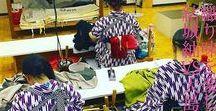"""きものの日 / 11/15はきものの日。きものの日を制定することになったいきさつは、昭和39年の東京オリンピックに、東京を訪れた世界各国の人々から「日本の民族衣裳は""""きもの""""だと思っていたが、きもの姿をほとんど見かけないのは何故か」との声を受けて、とか。"""