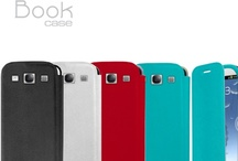 Book case for iPhone5, Samsung S III and Samsung S III mini