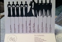 Wedding Programs  / Some ideas for wedding programs.