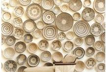a r t   l  on the wall / portraits, sculptures, dishes,hats...
