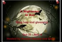 A Nightmare in Aus blog hop / A board where we can pin all of the scary stories posted during our Halloween 2013 blog hop.