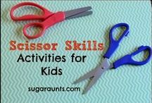 Scissor Skills! / This is a great resource for activities that will enhance and improve your child's scissor cutting skills!