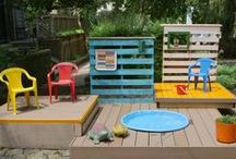 Gardens for children ideas / Playareas and ideas for outside play