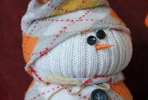 Crafty Snowmen / Love the fluff ... and whimsy of this year-round character. My Fav is the Yuki-Daruma of Japan.  / by Amy Laslow