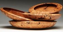 Hand-Turned Wood Bowls and Vases / These contemporary hand-turned wood bowls are made from visually interesting and highly figured wood. Finished with a bee's wax and mineral oil cream. All vessels are hand-branded by the artist. Made in Brooklyn, NY!