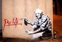 Urban Art  / Street art, stencilling, graffiti, yarn bombing, guerrilla crochet, chalk art, magnificent murals, sculptures, etc.  / by Angel Simpson