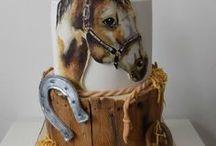 Motivtorten *Pferde* / Pferde sind der Traum aller Mädchen, eine Pferdetorte lässt Kinderaugen groß werden