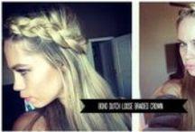 Bridal hair / long and short hair inspired by bridal, hippie hair, long hair, wavy hair