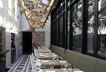 Restaurant Interiors / Warm, sexy, rustic, minimalist, badass restaurants.